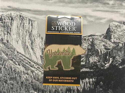Yosemite Bear Wood Sticker
