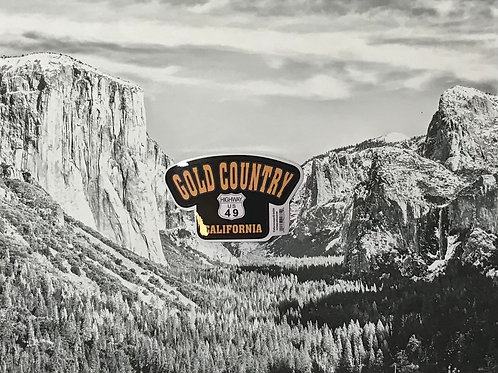 Gold Country Highway US 49 California Small Sticker