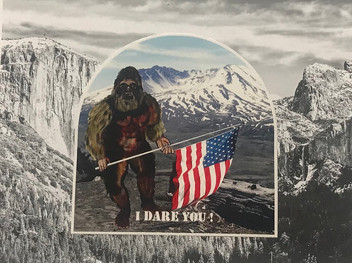 Big Food Flag I Dare You Vinyl Decal