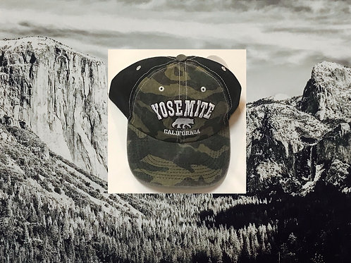 Yosemite Army Camo & Black Baseball Cap