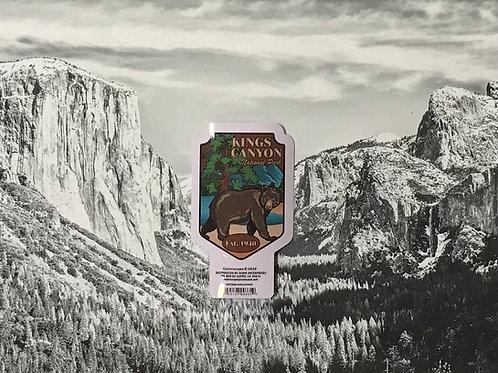 Kings Canyon Bear Est. 1940 Small Sticker