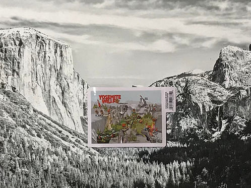 Yosemite Map Small Sticker