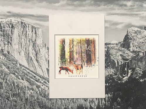two Deers in Yosemite Mini Photo Print
