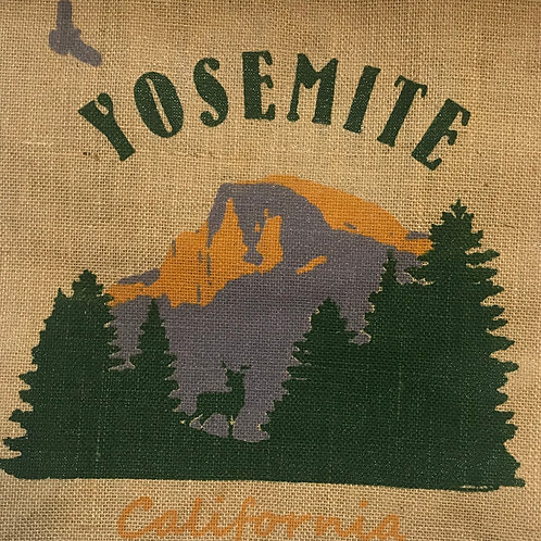 Yosemite California Jute Shopping Bag