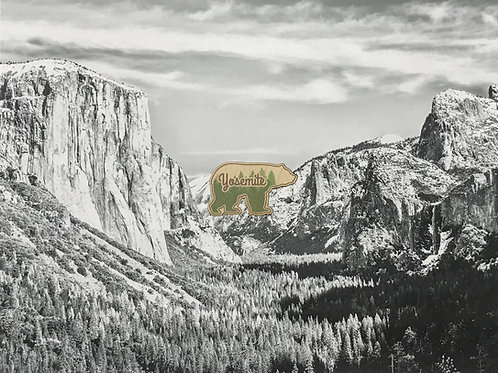 Yosemite Bear Mini Wood Sticker