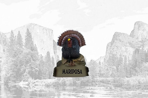 Rubber Mariposa Turkey Magnet