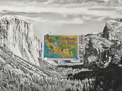 California Natural Wonders Small Sticker