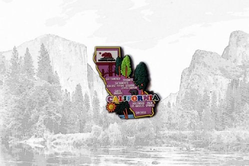 Rubber California Magnet