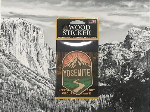 Yosemite Wood Sticker