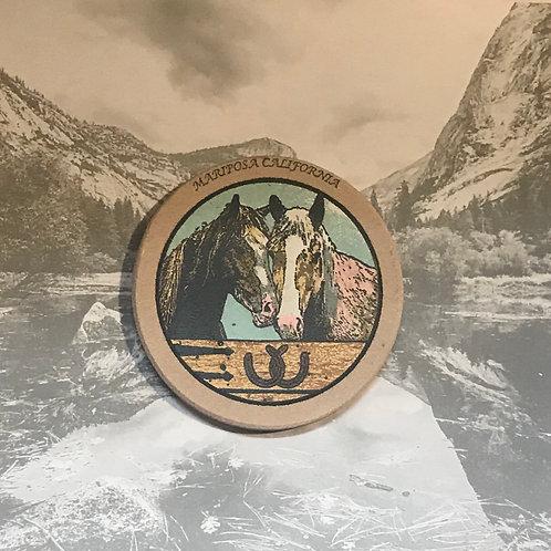 Mariposa California Sand Stone horse Coaster