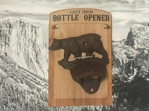 Yosemite Bear Cast Iron Bottle Opener