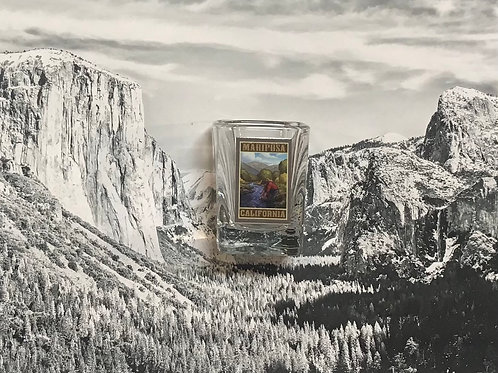 Mariposa, California Gold Miner Square Shot Glass