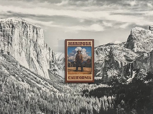 Mariposa Old West 2D Wood Magnet