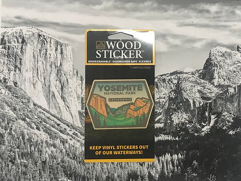 Yosemite National Park Wood Sticker