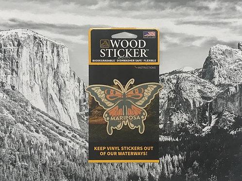 Mariposa Butterfly Wood Sticker