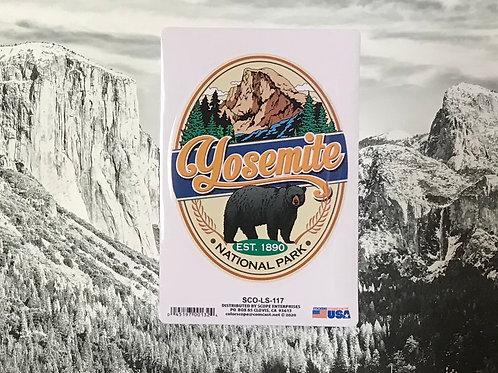 Yosemite Half dome with Bear Sticker