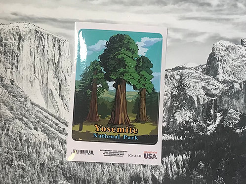 Yosemite National Park3 large Trees Sticker