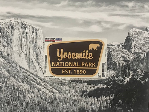 Yosemite National Park Est. 1890 Small Sticker