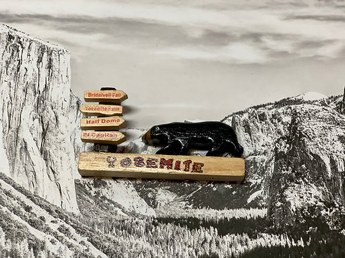Yosemite Bear Wood Magnet