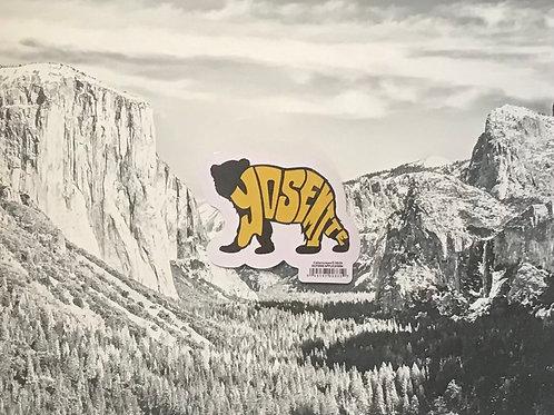 Yosemite Black Bear Small Sticker