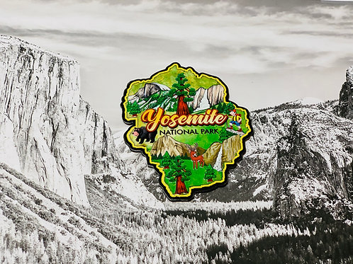 Yosemite National Park Picture Magnet