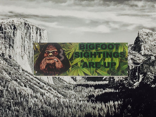 BigFoot Sightings Are Up Metal Sign