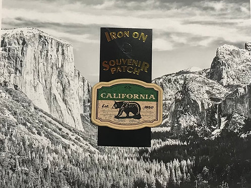 California Est. 1850 Black Bear Patch