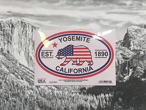 Yosemite, California Republic Bear Sticker