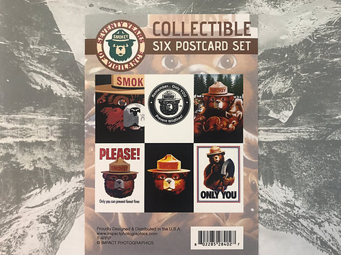Smokey Bear Collectible Six Postcard Set