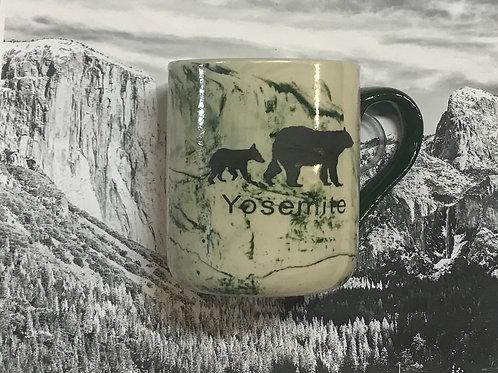 Yosemite 2 Bears Marble Look Mug