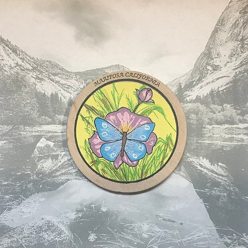 Mariposa California Sand Stone Butterfly Coaster