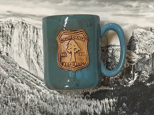 California Republic Large Blue Ceramic Mug