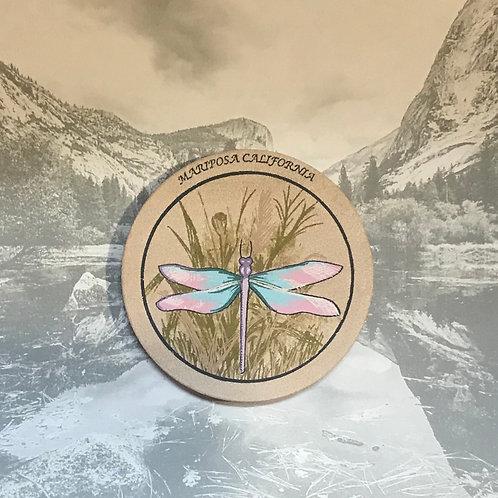 Mariposa California Sand Stone Dragonfly Coaster