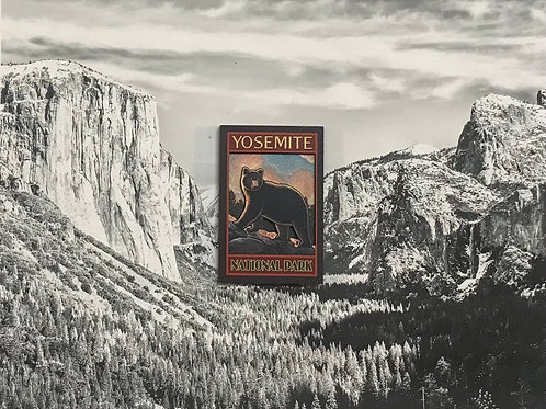 Yosemite Bear 2D Wood Magnet
