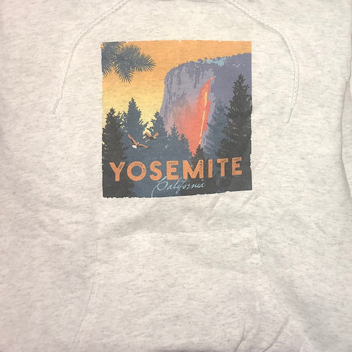 Yosemite Horse Tail Falls 2X Hoodie