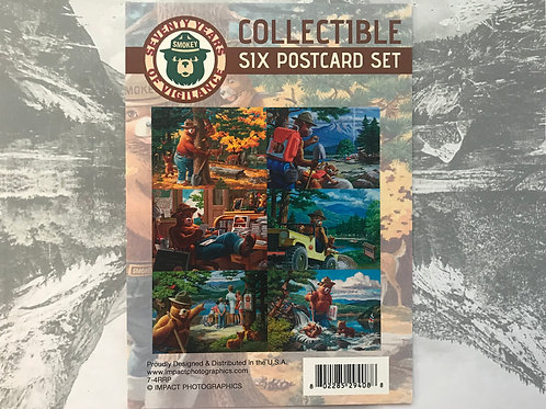 Smokey Bear Six Collectible postcard set