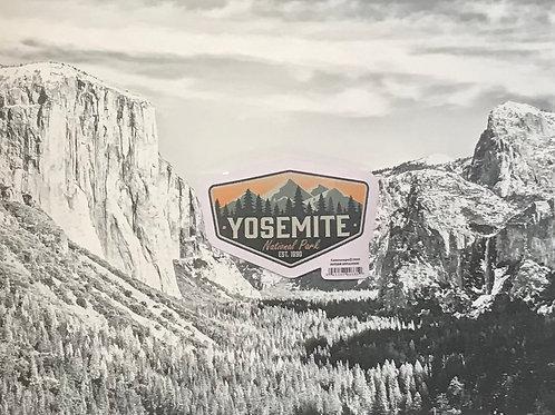Yosemite Mountains Small Sticker