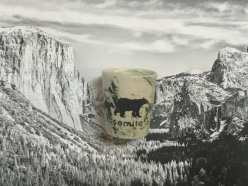 Yosemite 2 Bears Ceramic Marble Shot Glass
