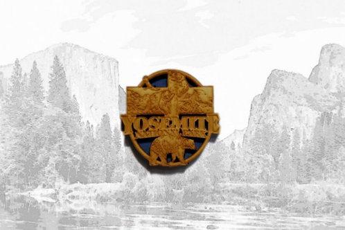 Wooden Yosemite Magnet
