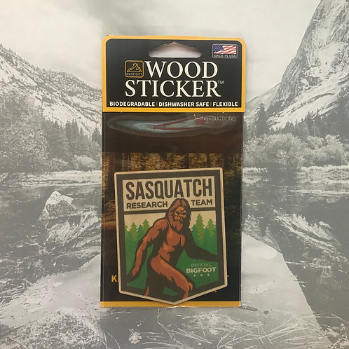 Sasquatch Research Teach Wood Sticker