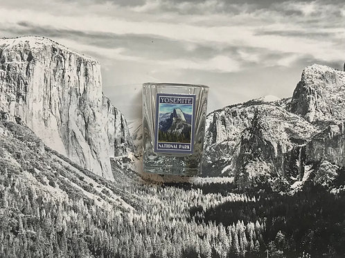 Yosemite Half Dome Square Shot Glass