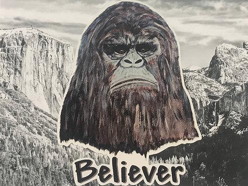 Big Foot Believer Vinyl Decal