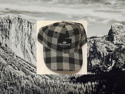 Yosemite Black and Grey Checkered Baseball Cap
