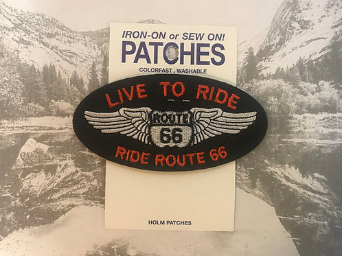 Live To Ride, Ride Route 66 Patch