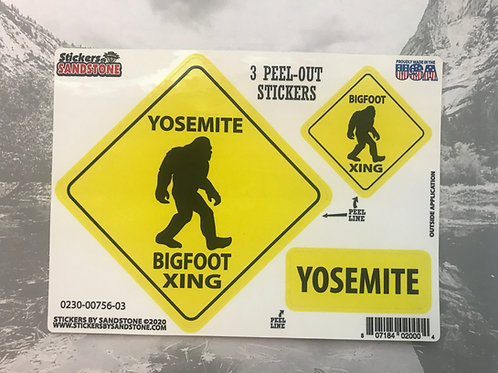 BigFoot Xing Yosemite Sticker