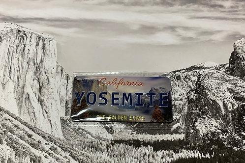 Yosemite License Plate