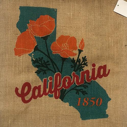 California State Jute Shopping Bag
