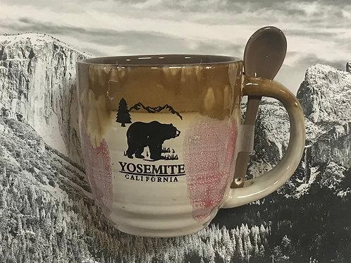 Yosemite Ceramic Mug with Spoon
