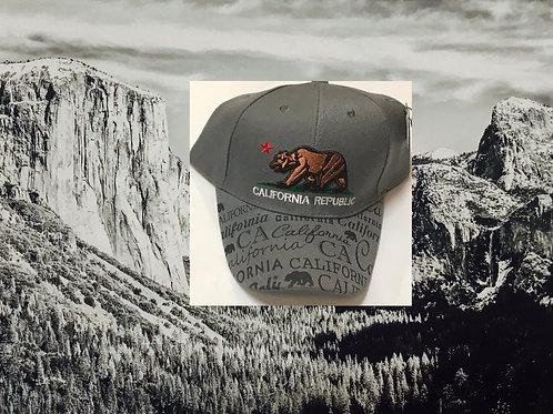 California Republic Grey Baseball Cap