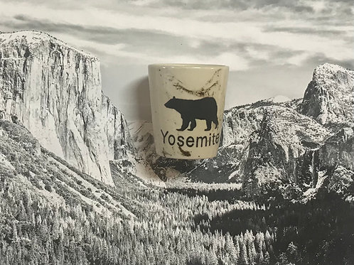 Yosemite Ceramic Shot Glass with Bear